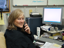 Pam of the Young & Sons Heating and A/C team takes your call